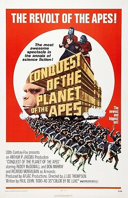Conquest Of The Planet Of The Apes movie poster (a)  - 11 x 17 inches