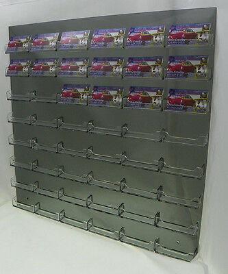48 Pocket Business Card Holders Wall Smoked Acrylic with Clear Pocket Organizer