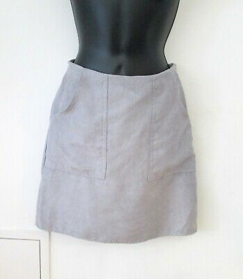 Atmosphere Grey Faux-Suede Mini/ Short Straight Skirt- Sz UK 6, Worn Once Only