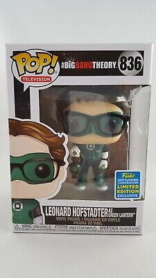 Leonard Hofstadter as Green Lantern Funko POP! #836 SDCC 2019 Big Bang Theory