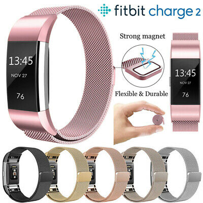 For Fitbit Charge 2 Watch Strap Wrist Bands Milanese Stainless Steel Magnetic