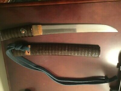 Japanese Hand Forged Antique Folded Steel Tanto Samurai Sword