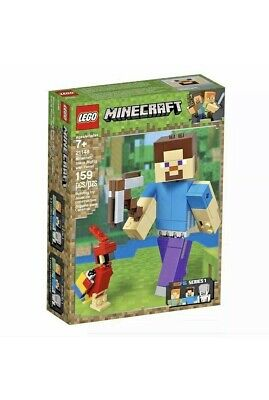 LEGO Minecraft Steve BigFig with Parrot 21148 - New