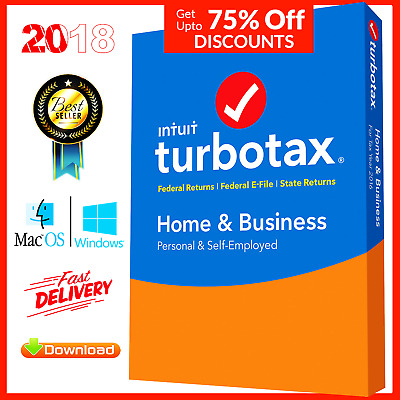 TurboTax 2018 Home and business Windows and Mac 5 Users Federal State Return Tax