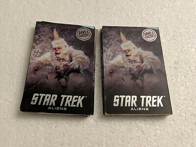TWO 2x Dave & Busters Star Trek Aliens Coin Pusher Cards Full Sets Rare Mugato!