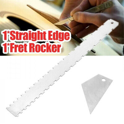 New Guitar Neck Notched Straight Edge Luthiers Fingerboard Edge Fret Ruler Tool