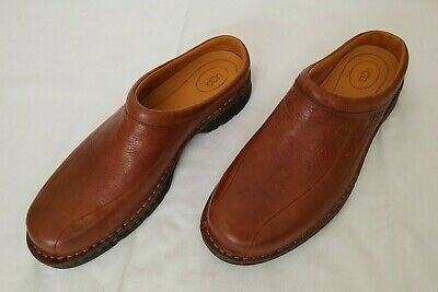 8409f3dcca7 MENS SZ 15 Brown UGG Australia Clogs Mules Slip On Casual Leather Shoes S/N  5526