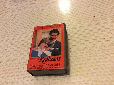 Collectable Redheads Royal Wedding Match Box