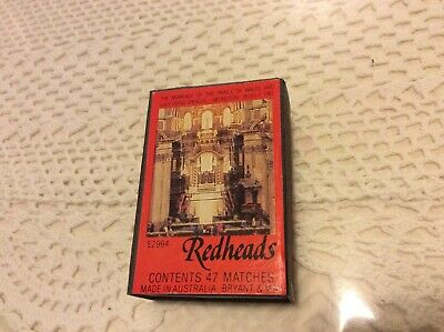 Collectable Redheads Royal Wedding Matchbox