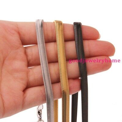 """Hot sale 23.6"""" Soft Flat Snake Chain Necklace Stainless Steel Men Womens Jewelry"""
