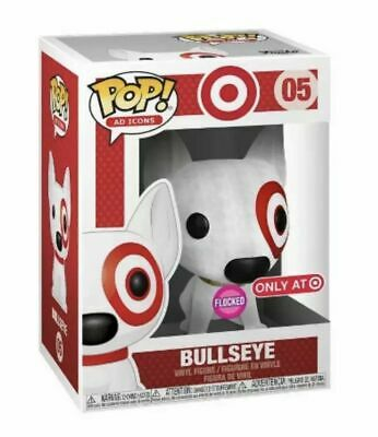 Funko Pop Ad Icons Target Flocked Bullseye SDCC Debut IN HAND