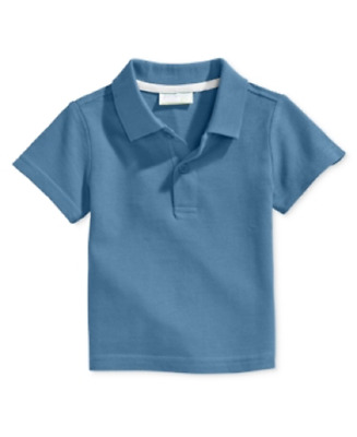 First Impressions Baby Boy's Short-Sleeve Polo Shirt in Dreamy Blue, Retail $13