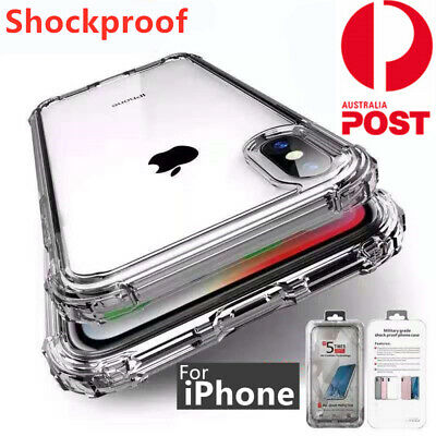 Ultra Clear Shockproof Bumper Back Case Cover for iPhone XS MAX XR X 8 7 6s Plus