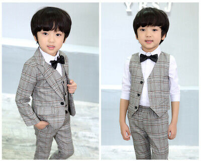 Boys Suits 3 Piece Wedding Suit Prom Page Boy Baby Formal Party 1 Colours
