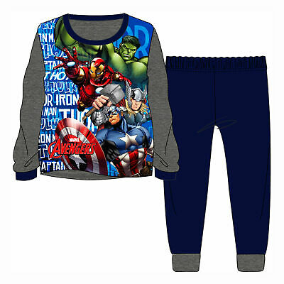 Boys Marvel Avengers Superhero Blue Dressing Gown Rope Ages 2-12 Years