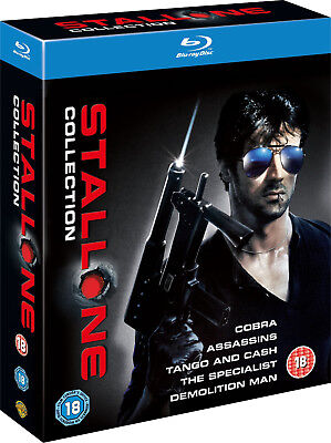 Coffret Sylvester Stallone Collection - Blu-Ray 5 Films Import UK - VF INCLUSE