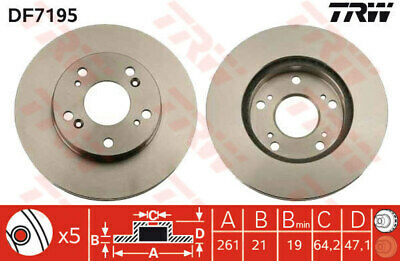 FORD MONDEO Mk4 2x Brake Discs Pair Vented Front 2.0 2.0D 07 to 15 79805RMP QH