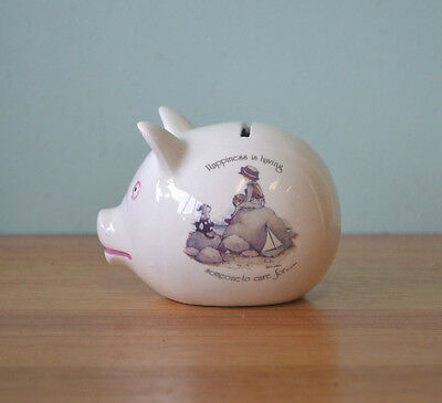 Vintage Retro Holly Hobbie Money Box  ceramic piggy bank 3195