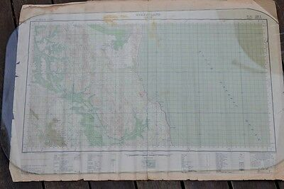 Vintage map  Curtis QLD map 1943 old map Australia