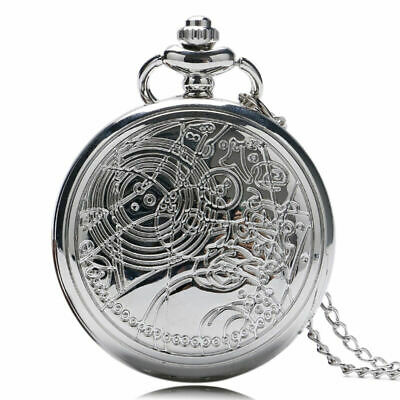 Vintage Doctor Who Quartz Pocket Watches Unisex Necklace Chain Watch Xmas Gift