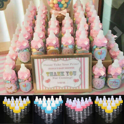 24x Fillable Bottles for Baby Shower Favor Party Decorations Girl Boy more color