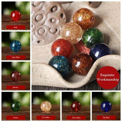 10pcs 8/10/12mm Round Foiled Lampwork Glass Loose Beads Jewelry Findings Crafts