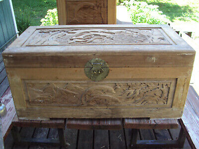 Antique ported custom Chinese chest