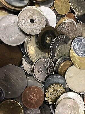 100 World coin lot. NO DUPLICATE COINS!