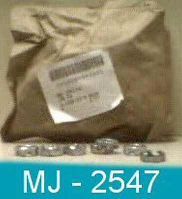 Pack of 100 Textron - Plain Hexagon Head Notched / Slotted Nuts P/N: 445746(NOS)