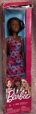 Barbie Doll Purple Pink Summer Floral Dress African American Foreign Language