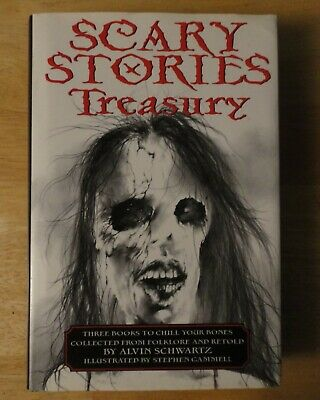 SCARY STORIES TREASURY Hardcover Book w Dust Jacket - TO TELL IN THE DARK MORE 3