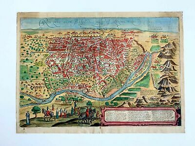 Braun & Hogenberg Map of Cairo ~ Babylon