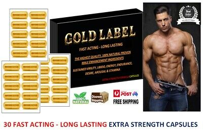 GOLD LABEL 30x Strong Erection & Libido Enhancer, Longer Lasting Sex -Free Bonus