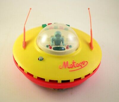 VINTAGE METEOR COSMIC SPACE FLYING SAUCER 60's Kosmiczny Poland Battery Operated