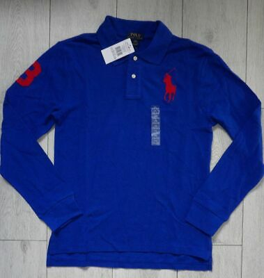 *NEW* Ralph Lauren Big Pony 18-20 YRS XLB Boys Long Sleeved Polo Blue Shirt