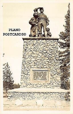 """Truckee, California """"Donner Monument"""" Rppc Real Photo Postcard"""