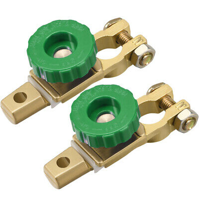 Car Battery Master Disconnect Switch Top Post Terminal Clamps Zinc Alloy 2Pcs
