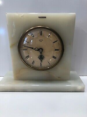 Smiths 4 Jewels 8 Day Clock Mantle Art Deco Onyx As Is Look At Photos