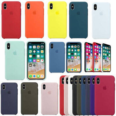 OEM Silicone Cover for iPhone XS XR XS Max Original Phone Silicone Back Case New