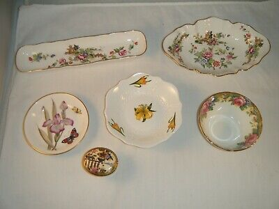 LOT of 6 England Bone China - Royal Worcester Aynsley Crown Stratfordshire