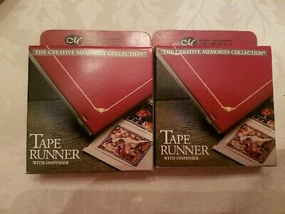 Creative Memories 2 Tape Runner Dispensers Double Sided Self Adhesive Tape