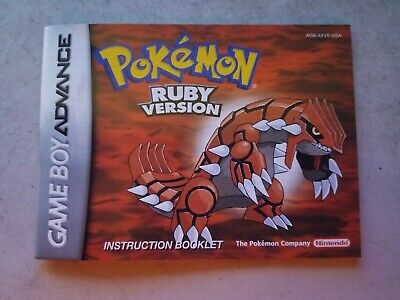Pokemon: Ruby Version Instruction Booklet (AGB-AXVE-USA)