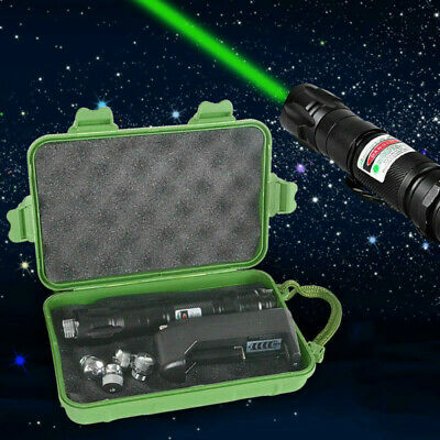 10miles Green 1MW 532NM Laser Pointer Pen Adjustable Focus Lazer With Charger UK