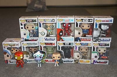 Lot 14 New & Loose Funko Pop Figures - Gravity Suicide Avengers Ego Darth Hulk