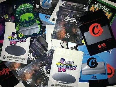 Mixed designs Mylar Bags smell proof cali packs Cookies runtz sherbinskis fattys