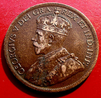 XF solid 1919  Canada One Cent.  6 Strong crown pearls, Full Crown Diamonds!