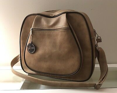 Via Ventura VTG Carry On Bag Large Tan Beige Carry On Travel Shoulder Bag