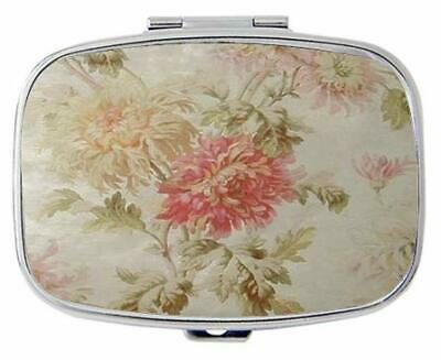 Antique French Floral Toile Personalized Custom HOT Sale Stainless Steel Pill Ca