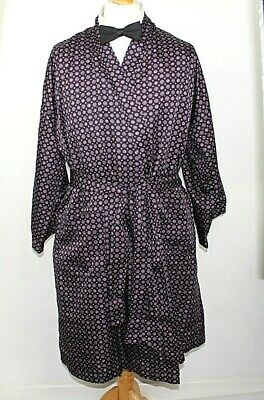 "St Michael Mens Vtg dressing gown Smoking jacket Silky Large 44-46"" chest 18a"