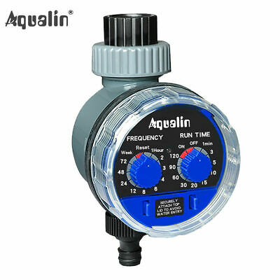 Electronic Water Hose Timer Garden Irrigation Controller Two Dial Color Blue